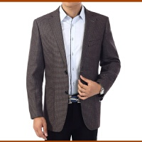 男西装春季中老年男士休闲西装中年男西服爸爸装单西外套大码