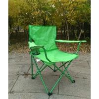 户外家用便携折叠椅扶手椅钓鱼椅凳沙滩椅公园写生椅自驾游野营椅 浅绿色 如图