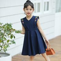 女童夏季连衣裙新款夏装韩版时尚女孩中大童夏天儿童公主裙子
