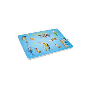 Hape小王子小抓手拼图2岁以上积木拼小王子人物拼图积木拼插拼图拼板824604