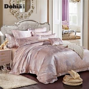 多喜爱家纺床上用品四件套家居新品优雅提花套件床单被套赫本