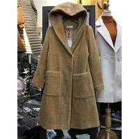 Z1连帽韩版冬装呢子大衣女收腰加厚仿貂绒毛呢大衣中长款外套1.25