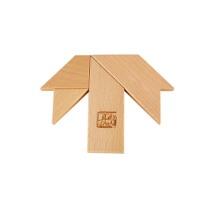 木质七巧板T字之谜方块拼图拼板儿童益智早教积木玩具