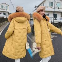 【极速发货 超低价格】棉衣女中长款2020冬季新款大毛领外套保暖棉服女韩版大码棉袄潮