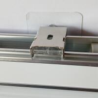 L型百叶窗帘免打孔安装轨道通用黏贴卡扣3M胶片配件卷帘