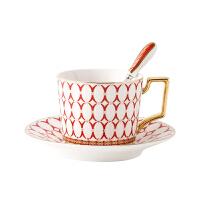 欧式咖啡杯碟套装陶瓷金边骨瓷咖啡具简约下午茶红茶杯挂耳咖啡杯