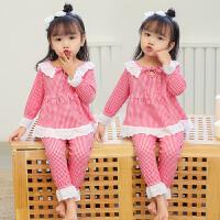 春秋季儿童女童睡衣长袖中大童小孩子童装小童宝宝家居服套装