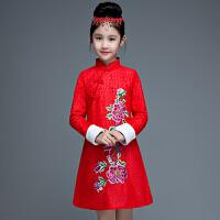 公主裙中国风连衣裙儿童旗袍冬女童新年装公主裙女童中式礼服长袖