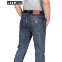 JEEP吉普弹力牛仔裤男春秋薄款直筒修身牛仔长裤男装商务休闲裤子