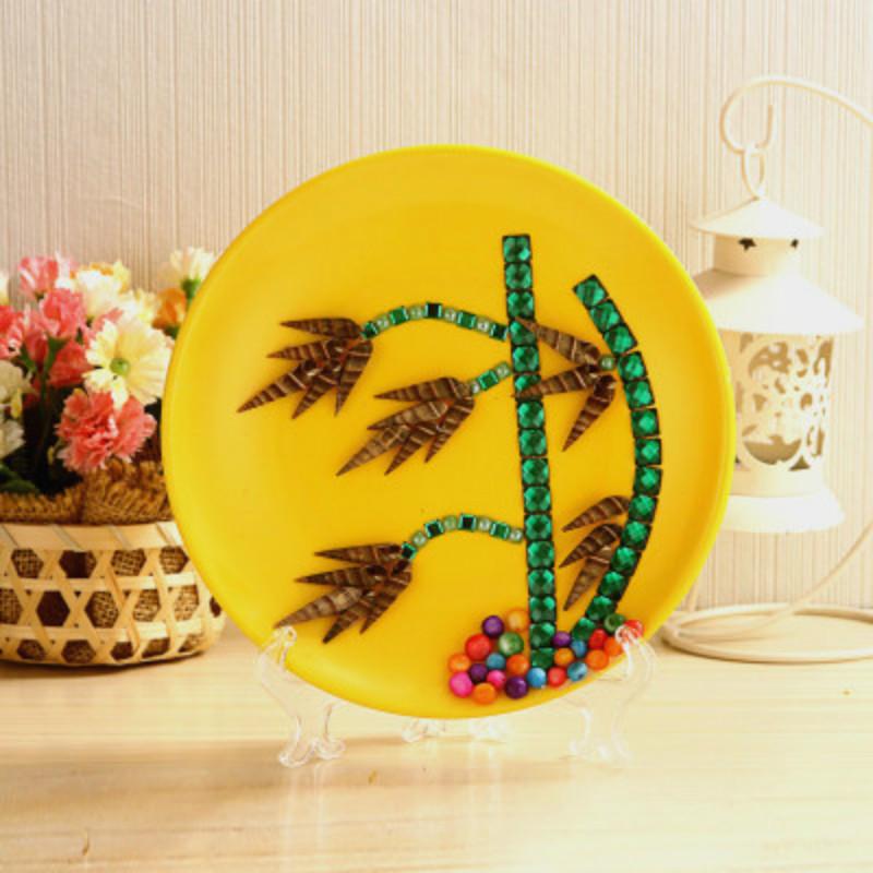 创意diy儿童3d贝壳圆盘画益智粘贴画材料海洋的奥秘礼盒学生奖品