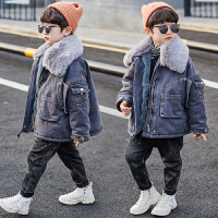 童装男童冬装外套儿童中长款男孩羽绒棉