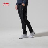 李宁运动裤男士2018新款跑步系列长裤反光男装春季平口梭织运动裤AYKN011