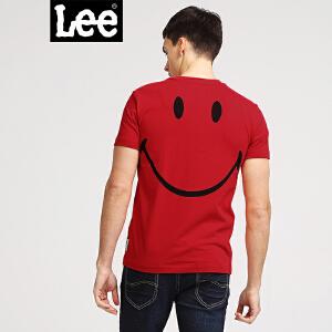 Lee男装 2018春装新品商场同款笑脸圆领印花短袖T恤L302712YVK11