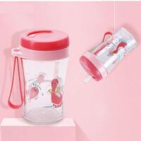 宝宝吸管杯儿童专用水杯6-18个月防漏防呛耐摔婴幼儿学饮杯 ij9