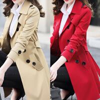2018春秋季新款女装韩版修身小个子风衣女大码中长款大衣外套
