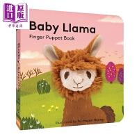 【中商原版】Baby Llama: Finger Puppet Book 手偶书:美洲驼宝宝 英文原版 进口图书 亲子绘