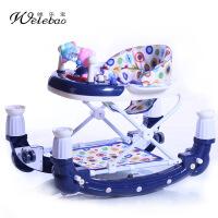 唯乐宝 婴儿学步车幼儿童车防侧翻多功能折叠音乐摇马车