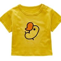 婴儿衣服夏季卡通T恤男女宝宝0-6-12个月新生儿夏装短袖上衣