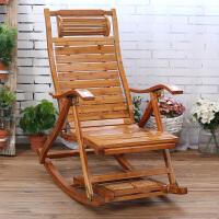 折叠躺椅成年人竹摇摇椅家用午睡凉椅老人休闲逍遥椅实木靠背椅子