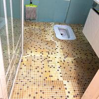 浴室防滑垫卫浴地垫厨房吸水脚垫子厕所pvc塑料泡沫地毯卫生间大 马赛克卡其