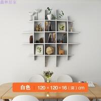 墙上置物架壁挂创意墙上隔板客厅电视背景墙装饰搁板卧室格子