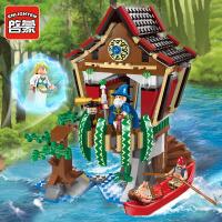 男孩玩具海盗系列魔法师小屋积木拼装小颗粒拼插模型1309