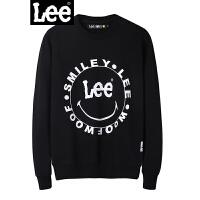 Lee男装 2018新品商场同款Smiley黑色套头卫衣L300512GZK11