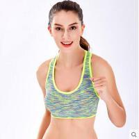 时尚大气迷彩瑜伽健身跑步防震背心式文胸女减震速干无钢圈运动内衣