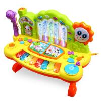 宝宝喷泉音乐2电子琴带麦克风4婴儿小钢琴儿童玩具琴0-1-3岁
