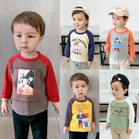 男童长袖T恤婴儿童装宝宝打底衫上衣儿童