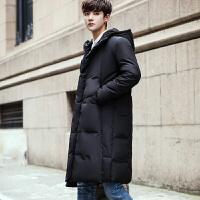 日系原宿外套男士中长款连帽宽松冬季青年潮牌加厚防风棉大衣