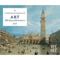【现货】英文原版 大都会艺术博物馆2019年日历 台历 每天一页 Art: 365 Days of Masterpie