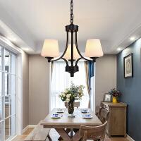 美式吊灯复古铁艺 欧式客厅地中海风格吊灯卧室餐厅仿古灯具MD08