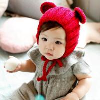 缕巷 手工帽子 米奇耳朵系拍摄道具帽子 纯色宝宝儿童帽子冬婴童帽冬季