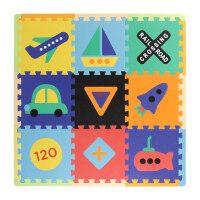 拼图儿童节礼物宝宝儿童防护儿童拼图地垫多彩纹宝宝爬行垫婴儿拼接泡沫地垫加厚约1.4厘米拼图 儿童