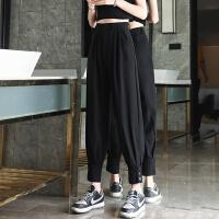 Lee Cooper 【纽扣束脚设计】夏季新款女装休闲裤子哈伦百搭时尚女裤