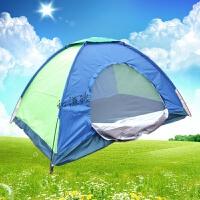 户外双人野外帐蓬 野营休闲防紫外线 防雨露营旅游登山帐篷单人 +防潮垫+小夜灯