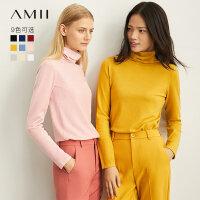 【到手价:68元】Amii极简洋气针织衫女秋冬2019新款外搭高领打底衫薄款长袖上衣