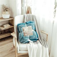 四季休闲毛毯双层羊羔绒加厚单双人盖毯珊瑚绒空调毯子色午睡毯 光影蓝 新品毛毯AF 2*2.3M 双人毯
