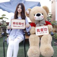 大熊抱抱熊圣诞节礼物送女友熊毛绒玩具女生玩偶熊猫公仔娃娃