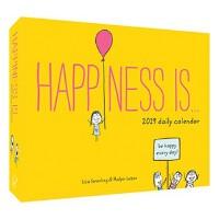 【现货】英文原版 幸福是……2019年日历 每天一页 平凡生活的小确幸 治愈系绘本 进口台历 Happiness Is