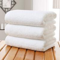 毛巾加厚棉21股100克白毛巾酒店足疗洗浴面巾T 白色 35*70--