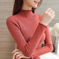 半高领套头毛衣女春秋新款韩版纯色打底衫修身百搭长袖短款针织衫