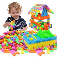 子弹头积木塑料拼插积木儿童3-8岁男女拼接火箭头益智玩具