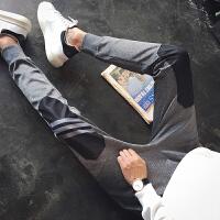 秋冬季运动裤男修身加绒加厚休闲长裤韩版潮流哈伦收口小脚卫裤