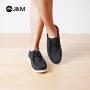 【低价秒杀】jm快乐玛丽春夏季纯色系带时尚平底素面休闲鞋厚底舒适男士鞋子