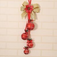 新年装饰球串挂件圣诞树挂件商场酒店橱窗装饰彩球铃铛串圣诞礼品