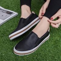 匡王2017秋季新款帆布鞋女韩版学生懒人鞋子平底板鞋一脚蹬小白鞋女鞋
