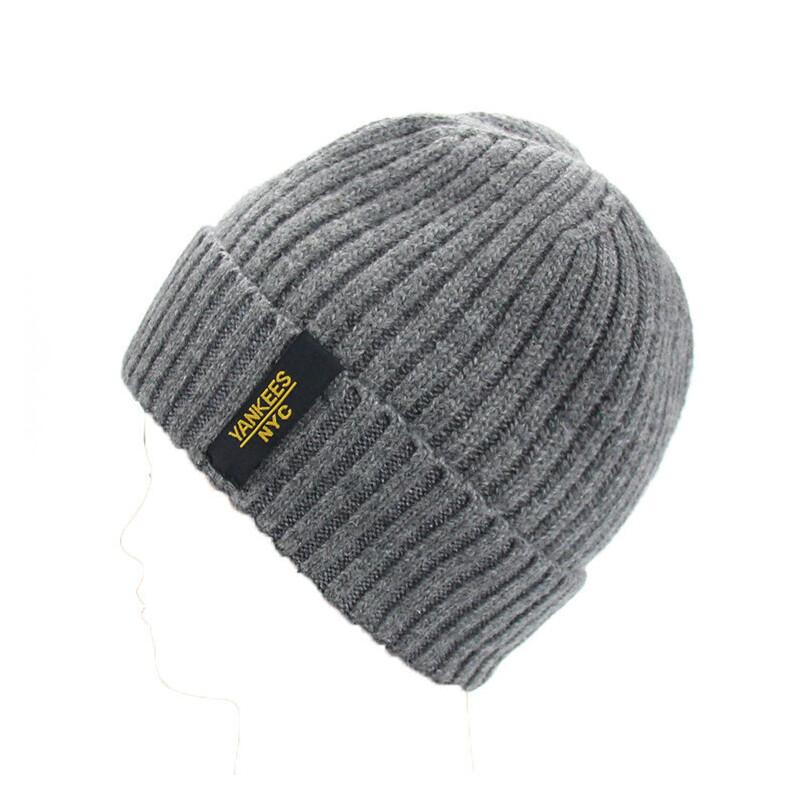 帽子男冬天加厚保暖护耳毛线帽加绒针织帽冬季户外中老年人套头帽