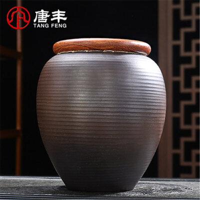 唐丰密封茶叶罐陶瓷茶盒茶仓旅行储物罐小号普洱罐存茶罐装茶盒